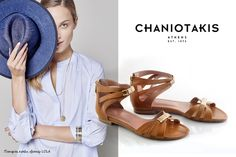 Καλοκαιρινά σανδάλια. Επίλεξε από τη συλλογή το χρώμα και το σχέδιο που σου ταιριάζει καλύτερα. Summer sandals: choose your color & design from our collection. #sandals #chaniotakis #shoes Shoe Collection, Summer Shoes, Spring Summer, Flats, Loafers & Slip Ons, Summer Sneakers, Ballerinas, Apartments