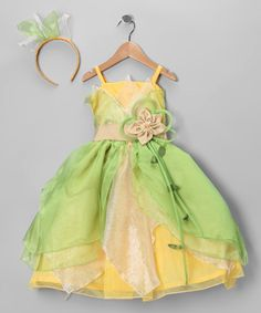 Take a look at this Green & Yellow Princess Dress-Up Set - Toddler & Girls by Bijan Kids on #zulily today!