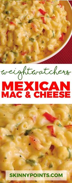 Mexican Mac & Cheese with low weight watchers smart points (smart kitchen weight watcher recipes) Weight Watchers Sides, Weight Watchers Smart Points, Weight Watcher Dinners, Weight Watchers Pasta, Weight Watchers Recipes With Smartpoints, Weight Watchers Lunches, Skinny Recipes, Ww Recipes, Mexican Food Recipes