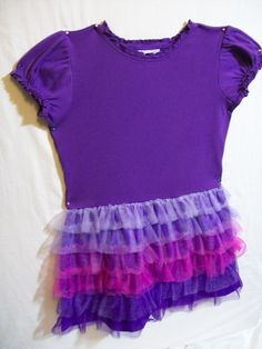 Hanna Andersson Girls Size 120 or 6-8 Dressy Summer Purple Dress 100% Cotton  #HannaAndersson #Dressy
