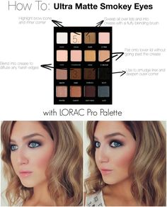 How To: Ultra Matte Smokey Eye with Lorac Pro Palette | www.loveshelbey.com #loracpropalette #lorac