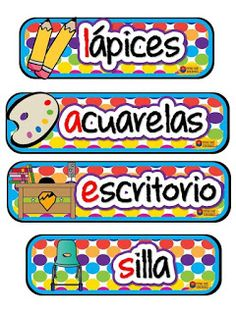 SGBlogosfera. María José Argüeso: ORGANIZAMOS LA CLASE Classroom Labels, Classroom Door, Classroom Activities, Classroom Organization, Classroom Management, Teaching Kids, Teaching Resources, Teachers Corner, Preschool Projects