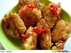 Kuřecí střapačky v bramborákovém těstě No Salt Recipes, Chicken Wings, Poultry, Food And Drink, Menu, Healthy, Cooking, Menu Board Design, Backyard Chickens
