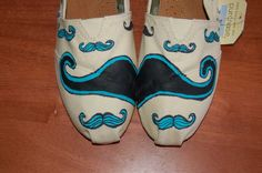 Quirky Mustache TOMS  customized in your by PurpleLizardStudio, $104.00