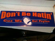 Peyton Manning Bumper Sticker - special listing***