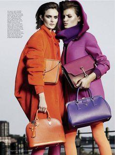 Rock the Blocks: Nina Porter and Sam Rollinson by Alique for Harper's Bazaar Arabia October 2012