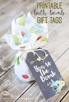 """Free Printable """"You are the Bomb"""" Gift Tags for any occasion gift idea such as Mother's Day or Birthday or Teachers by Blooming Homestead"""
