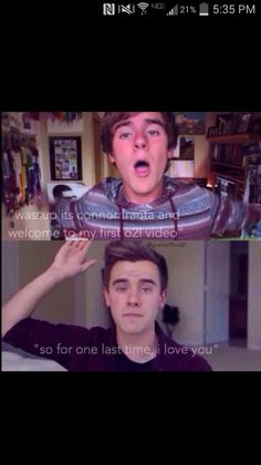 From the first to the last!!!!x #WeLoveYouConnor