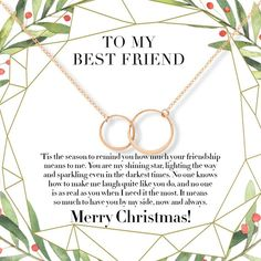 Christmas Gift for Daughter Necklace, Multiple Styles, 2 Interlocking Circles / Gold Bff Christmas Gifts, Christmas Fun, Holiday Gifts, Bff Necklaces, Best Friend Necklaces, Presents For Best Friends, Best Friend Gifts, Bestie Gifts, Last Minute Gifts