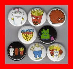 $11 Aqua Teen Hunger Force Set of 8 - 1 Inch Magnets Sealab 2021, Harvey Birdman, Aqua Teen Hunger Force, Metalocalypse, Space Ghost, All Kids, Magnets