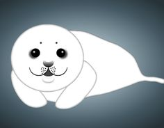 """Check out new work on my @Behance portfolio: """"Baby Seal - for Save the Seals Initiative"""" http://on.be.net/1BMwEvg"""