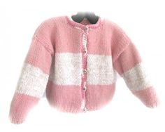 KSS Pink Knitted Acrylic Sweater/Jacket 4-5 Years