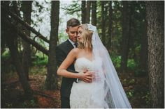 Rainy wedding day in Canmore. Authentic Bride and Groom \ Joelsview Photography