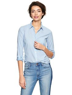 Gap Fitted Blue Gingham Button-Up: Retro gingham is poised for a surge of popularity this Spring. How good would this top ($50) look tucked into dark denim?