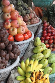 Fruit stand in Bali.