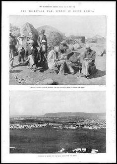 1899 Antique Print - MILITARY South Africa Transvaal Lekuku Durban Khama (355) | eBay Antique Prints, South Africa, Military, War, Antiques, Illustration, Antiquities, Antique