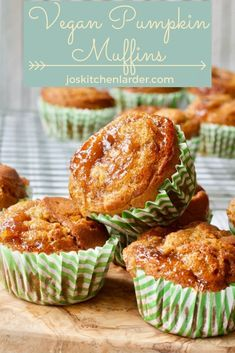 This Vegan Pumpkin Muffins recipe is simply the best! Sweet, moist, gently spiced with heaps of cinnamon & finished with a touch of plum jam, these lovely vegan muffins are proper celebration of all things pumpkin! #pumpkinmuffins #veganpumpkinmuffins #veganmuffins #plumjam #cinnamon #pumpkinrecipes Autumn Recipes Vegetarian, Vegan Recipes, Recipe Using Pumpkin, Pumpkin Muffin Recipes, Plum Jam, Vegan Muffins, Cinnamon Muffins, Seasonal Food, Vegan Pumpkin