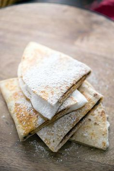 A s'mores quesadilla may be your new favorite summer treat. Just look at all that marshmallow! Click through for recipe!