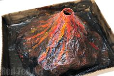 How to Make a Papier Mache Erupting Volcano for the Science Fair - Red Ted Art - Science Fair Project – create your own Papier Mache Erupting Volcano – a great classic science - Volcano Science Projects, Volcano Science Experiment, Science Projects For Kids, Science Experiments Kids, School Projects, Kids Crafts, Kid Projects, Science Ideas, Paper Mache Crafts For Kids
