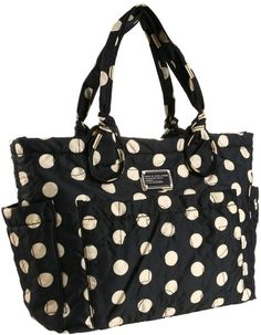 Marc By Marc Jacobs  D5 Pretty Elizababy Diaper Bag in Black (black & cream) - Lyst
