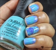 week 1- 2 color gradient+teal http://www.crazypolishes.com/2014/10/52-week-pick-n-mix-challenge-2-colour.html