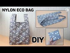 DIY NYLON ECO BAG/ Foldable shopping bag / sewing tutorial [Tendersmile Handmade] - YouTube Nylons, Small Sewing Projects, Christmas Inspiration, Sewing Tutorials, Couture, Shopping Bag, Projects To Try, Creations, Tote Bag