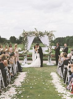 outdoor wedding Best of 2015 :: 14 of our Favorite Ceremony Backdrops Wedding Ceremony Ideas, Outside Wedding Ceremonies, Outdoor Wedding Decorations, Tent Wedding, Wedding Venues, Wedding Aisle Outdoor, Wedding Arches, Outdoor Weddings, Wedding Backdrops