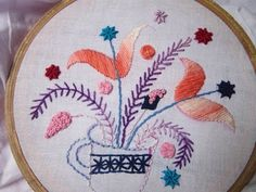 Hand Embroidery Desings | Flower Cup | Stitch and Flower-83 - YouTube