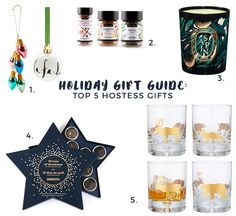 Holiday Gift Guide: The 5 Best Hostess Gifts via oraneboucher.com, shopping, shopping list, hostess gifts 2015, david's tea, kate spade, diptyque candle, christmas, gold, gold woodland, gold cocktail glasses, fine spices, best of 2015, gift ideas