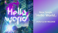 Kizuna AI - Hello World World C, Single Words, Vocaloid, Neon Signs, Youtube, Channel, Youtubers, Youtube Movies