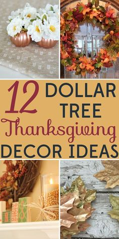 Decorating on a Budget: 12 Dollar Tree Thanksgiving Decor Ideas - Thanksgiving decorations shouldn't break the bank! These Dollar Tree Thanksgiving decor ideas wil - Fall Home Decor, Autumn Home, Fall Crafts, Holiday Crafts, Holiday Ideas, Budget Holiday, Cheap Holiday, Christmas On A Budget, Beach Holiday