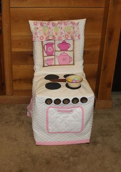 Play Kitchen Stove Chair Cover Cloth Play Kitchen Chair by woodhut