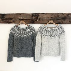 Diy Crafts - Ravelry: Altheda pattern by Jennifer Steingass Icelandic Sweaters, Wool Sweaters, Knitting Sweaters, Jennifer Wood, Handgestrickte Pullover, Fair Isle Pattern, Fair Isle Knitting, Garter Stitch, Pulls