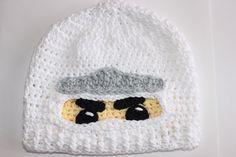Lego ninjago Zane hat, handmade crocheted ninja hat. on Etsy, $35.33 AUD