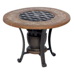 Mosaic Gas Table Top Fire Pit