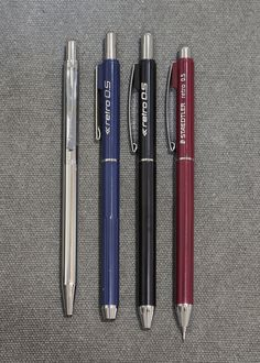 From left: Retro de Luxe 778 Retro 778 ver. Restaurant Names, Pen Design, Ford Bronco, Mechanical Pencils, Pen And Paper, Art Supplies, Brushes, Stationary, Calligraphy