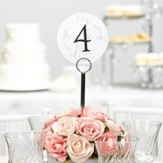 Filigree Table Number Cards (1-40)