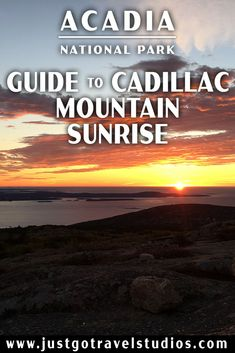 Cadillac Mountain sunrises in Acadia National Park in Maine are incredible. Our tips will make sure you can navigate the crowds and be the first in the country to see the sun come up! Cadillac Eldorado, Cadillac Escalade, Maine Road Trip, East Coast Road Trip, Cadillac Fleetwood, Acadia National Park, National Parks, Acadia Maine, Bangor Maine