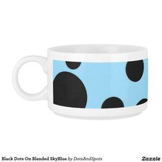 Black Dots On Blended SkyBlue Chili Bowl