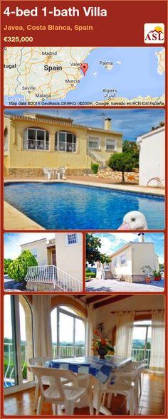 4-bed 1-bath Villa in Javea, Costa Blanca, Spain ►€325,000 #PropertyForSaleInSpain