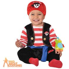 £11 Baby Pirate Buccaneer Costume Babies Shipmate Book Week Day Fancy Dress Outfit