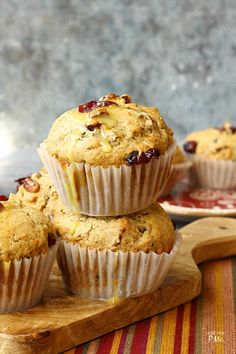 Moist and full of fall flavors, these Dried Cranberry Orange Muffins are full of tart cranberries, zesty orange and toasted pecans.#TimetoBelieve #CleverGirls