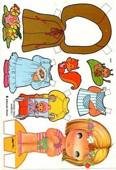 Paper Toys, Paper Crafts, Barbie Coloring Pages, Little Golden Books, Vintage Paper Dolls, Doll Patterns, Doll Clothes, Crafts For Kids, Templates