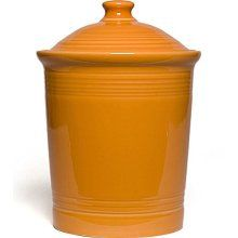 Fiesta Tangerine Large Canister 3 Qt 9.75 x 7.25 in