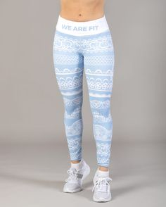 We Are Fit Lace Up Blue Tights - Tights.no