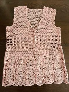 Gilet Crochet, Crochet Cardigan, Crochet Top, Crochet Baby Dress Pattern, Crochet Patterns, Kurti Designs Party Wear, Crochet Clothes, Fashion, Summer Sweaters