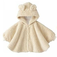Looking for the perfect Baby Girl Boy Double Sided Fleece Cloak Reversible Soft Cape Coat Outwear? Please click and view this most popular Baby Girl Boy Double Sided Fleece Cloak Reversible Soft Cape Coat Outwear. Fleece Poncho, Knitted Poncho, Sewing For Kids, Baby Sewing, Sewing Clothes, Diy Clothes, Cape Bebe, Kids Poncho, Baby Shawl