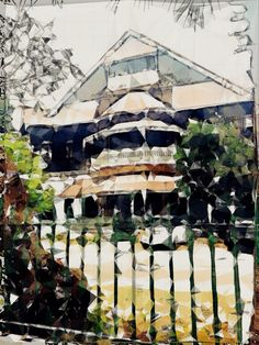 An Old Burmese House  #waterlogue + #triamiginator