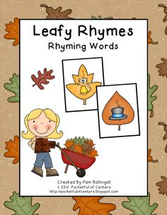 Leafy Rhymes Game $2.00  A fun way to practice rhyming!