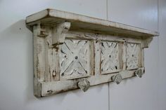 French Country wall shelf glass knobs Shabby by LynxCreekDesigns, $65.00